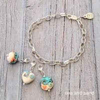 Glass & Silver Charm Bracelet | Julie Fountain
